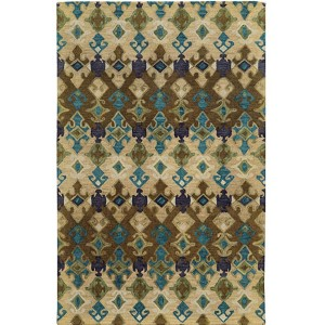 Jamison 53308 Beige and Blue Rectangular: 5 Ft. x 8 Ft. Rug