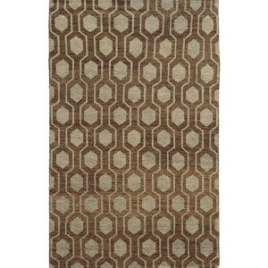 Maddox 56504 Brown and Blue Rectangular: 5 Ft. x 8 Ft. Rug