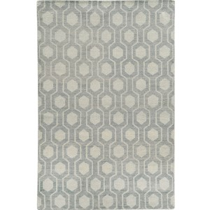 Maddox 56506 Blue and Beige Rectangular: 5 Ft. x 8 Ft. Rug
