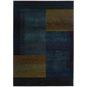 Kharma II Blue Rectangle: 5 ft. 3 in. x 7 ft. 6 in. Ru