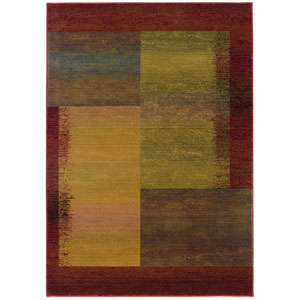 Kharma II Beige Rectangle: 6 ft. 7 in. x 9 ft. 1 in. Rug