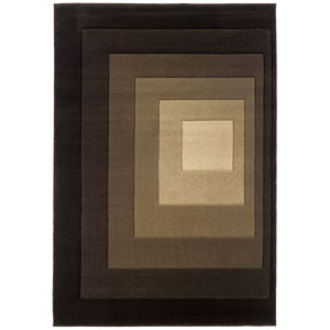Tones Brown Rectangle: 5 ft. 3 in. x 7 ft. 9 in. Rug