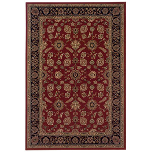Ariana Red Rectangle: 5 ft. 3 in. x 7 ft. 9 in. Rug