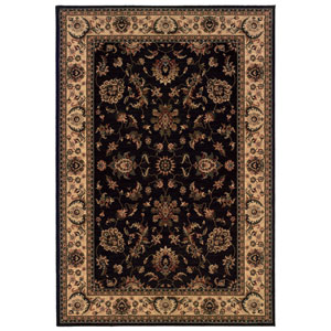 Ariana Black Rectangle: 5 ft. 3 in. x 7 ft. 9 in. Rug