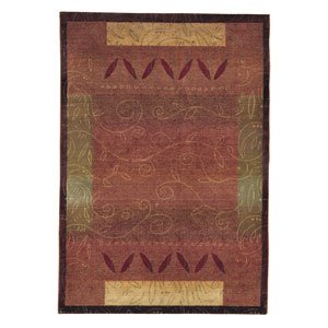 Kharma Red Rectangle: 5 ft. 3 in. x 7 ft. 6 in. Rug