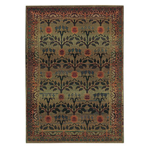 Kharma Green Rectangle: 5 ft. 3 in. x 7 ft. 6 in. Rug