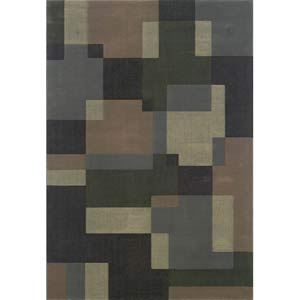Genre Blue Rectangle: 5 ft. 3 in. x 7 ft. 9 in. Rug