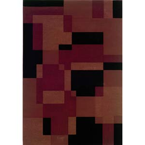 Genre Red Rectangle: 5 ft. 3 in. x 7 ft. 9 in. Rug