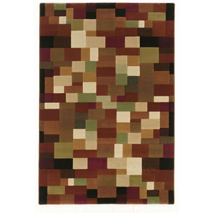 Genre Brown Rectangle: 5 ft. 3 in. x 7 ft. 9 in. Rug