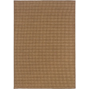 Karavia Tan Horizontal Rectangular: 6 Ft. 7 In. x 9 Ft. 6 In. Rug