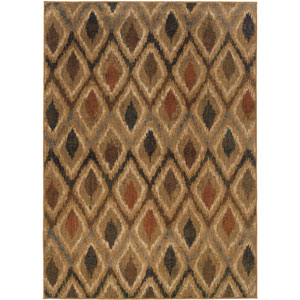 Kasbah Tan Diamonds Rectangular: 5 Ft. 3 In. x 7 Ft. 6 In. Rug