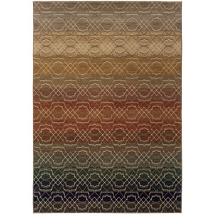 Kasbah Rainbow Rectangular: 3 Ft. 10 In. x 5 Ft. 5 In. Rug