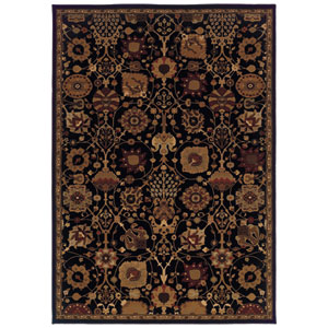 Cambridge Black Rectangular: 5 Ft. 3 In. x 7 Ft. 6 In. Rug
