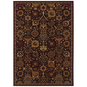 Cambridge Brown Rectangular: 5 Ft. 3 In. x 7 Ft. 6 In. Rug