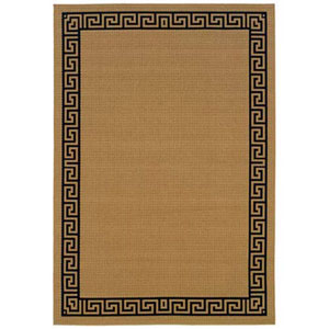 Lanai Beige Rectangle: 3 ft. 7 in. x 5 ft. 6 in. Rug