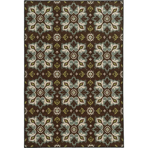 Arabella Brown and Blue Rectangular: 2 Ft. x 4 Ft. Rug