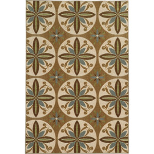 Arabella Tan and Ivory Rectangular: 2 Ft. x 4 Ft. Rug