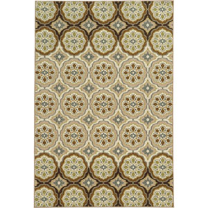 Arabella Ivory and Tan Rectangular: 2 Ft. x 4 Ft. Rug