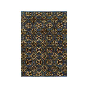 Andorra Blue Rectangular: 1 Ft. 10-Inch x 3 Ft. 2-Inch  Rug