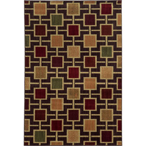 Aston Brown and Beige Runner: 2 Ft. x 8 Ft.