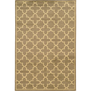 Brentwood Tan and Beige Rectangular: 2 Ft. x 3 Ft. Rug