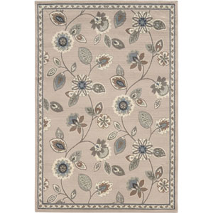 Brentwood Stone and Blue Rectangular: 8 Ft. x 10 Ft. Rug