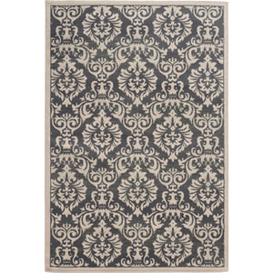 Brentwood Charcoal and Ivory Rectangular: 2 Ft. x 3 Ft. Rug