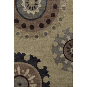 Covington Beige and Midnight Rectangular: 8 Ft. x 11 Ft. Rug