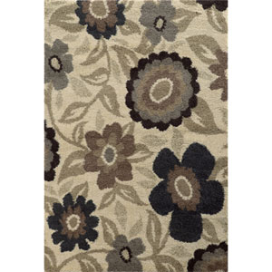 Covington Ivory and Beige Rectangular: 3 Ft. x 5 Ft. Rug