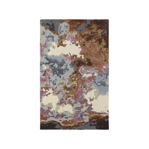 Galaxy Blue Rectangular: 3 Ft. 6-Inch x 5 Ft. 6-Inch  Rug