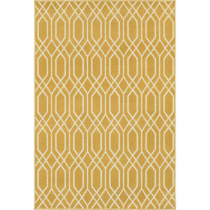 Hampton Gold and Ivory Runner: 2 Ft. x 8 Ft.