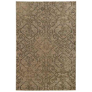 Heritage Beige and Gray Rectangular: 2 Ft. x 3 Ft. Rug