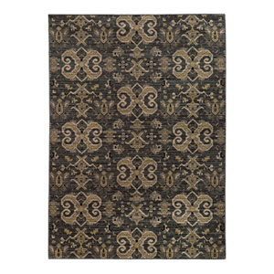 Heritage Blue and Gold Rectangular: 2 Ft. x 3 Ft. Rug