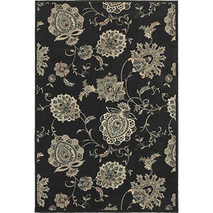Highlands Midnight and Ivory Rectangular: 2 Ft. x 3 Ft. Rug