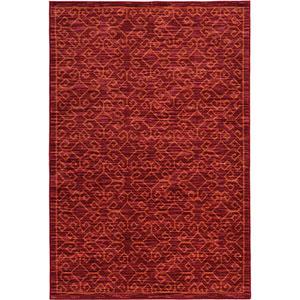 Harper Red and Orange Rectangular: 3 Ft. x 5 Ft. Rug