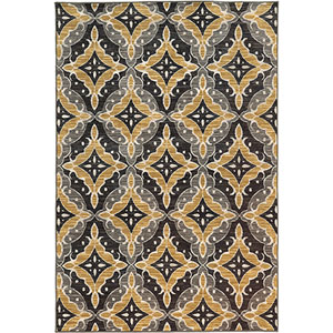 Harper Charcoal and Gold Rectangular: 3 Ft. x 5 Ft. Rug