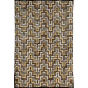 Harper Gray and Gold Rectangular: 3 Ft. x 5 Ft. Rug
