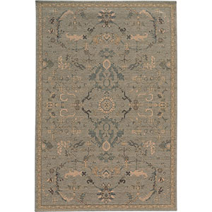 Heritage Blue and Beige Rectangular: 2 Ft. x 3 Ft. Rug