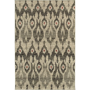 Highlands Ivory and Gray Rectangular: 2 Ft. x 3 Ft. Rug