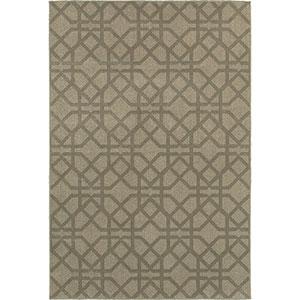 Highlands Gray and Beige Rectangular: 2 Ft. x 3 Ft. Rug