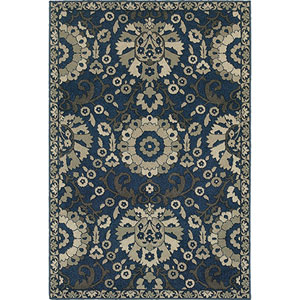 Highlands Midnight and Beige Rectangular: 2 Ft. x 3 Ft. Rug