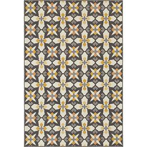 Hampton Gray and Gold Rectangular: 6 Ft. x 9 Ft. Rug