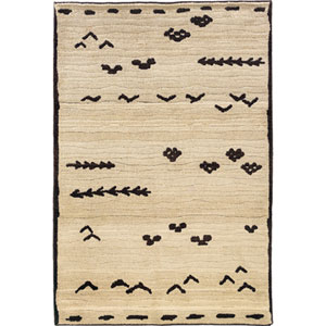 Marrakesh Ivory and Brown Rectangular: 4 Ft. x 6 Ft. Rug