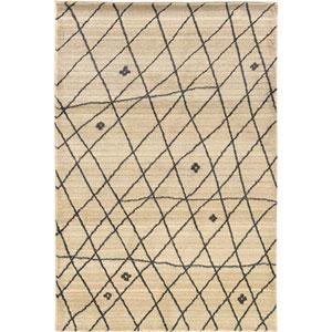 Marrakesh Ivory and Slate Rectangular: 4 Ft. x 6 Ft. Rug