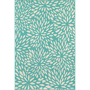 Meridian Blue and Ivory Rectangular: 5 Ft. x 8 Ft. Rug