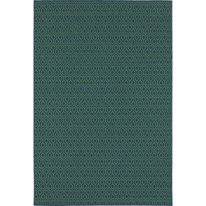 Meridian Navy and Green Rectangular: 8 Ft. x 11 Ft. Rug