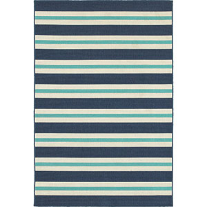 Meridian Blue and Ivory Rectangular: 8 Ft. x 11 Ft. Rug