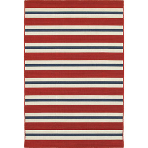Meridian Red and Blue Rectangular: 8 Ft. x 11 Ft. Rug