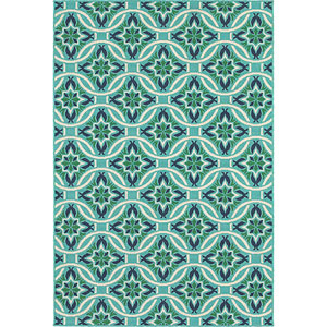 Meridian Blue and Green Rectangular: 4 Ft. x 6 Ft. Rug