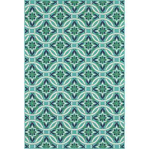 Meridian Blue and Green Rectangular: 8 Ft. x 11 Ft. Rug